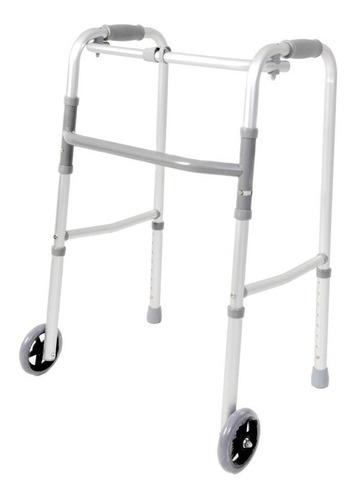 Imagen 1 de 6 de Andador Ortopédico De Aluminio Plegable 2 Ruedas Adulto