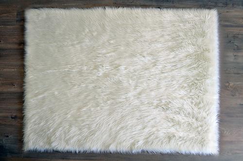 Alfombra Infantil Soft 1.20 X 1.80 Lavable Simil Cuero Ovino