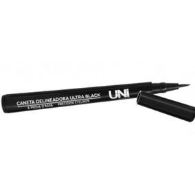 Caneta Delineadora Ultra Black A Prova D´água Uni Makuep