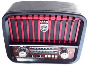 Som Retrô Vintage Rádio Am Reprodutor De Musica Aux Pendrive