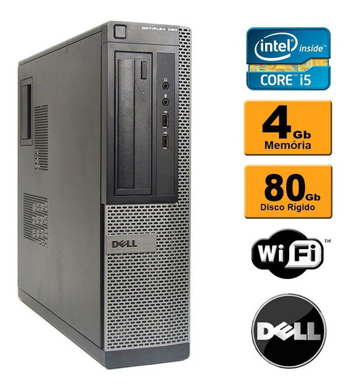 Desktop Dell Optiplex 990 Core I3 4gb Ddr3 Hd 80gb Rw