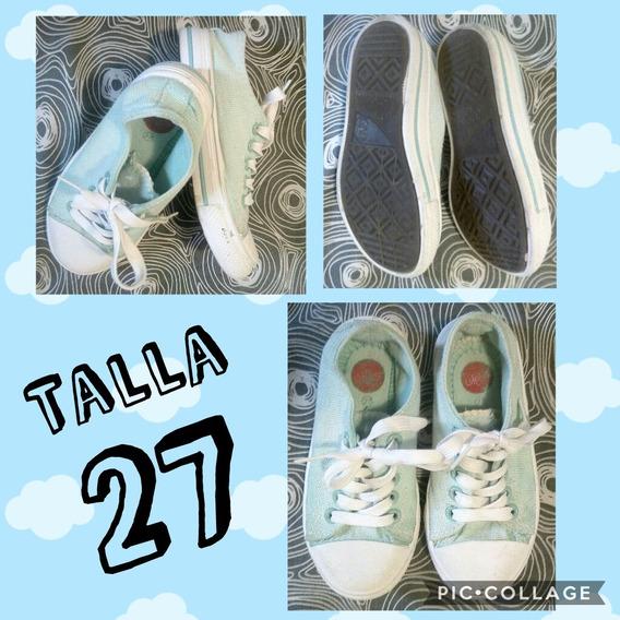 Zapatos Tipo Converse Para Niños Talla 27 Usadas