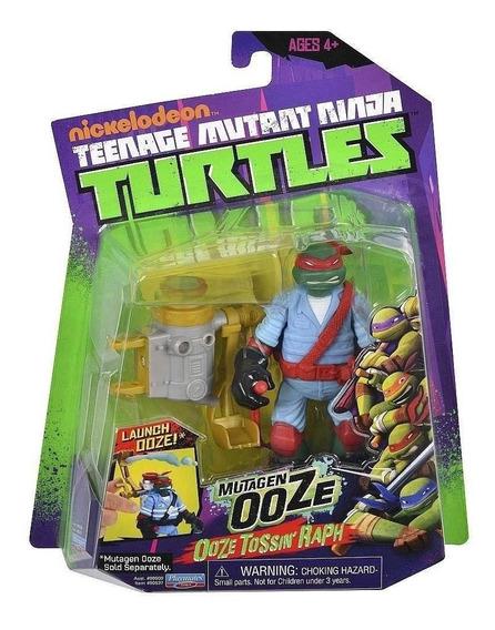 Boneco Tartarugas Ninja - Ooze Raphael 12 Cm - Multikids