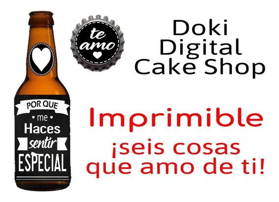 Etiqueta De Cerveza San Valentin Imprimible
