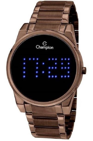 Relógio Digital Feminino Champion Marrom Chocolate Ch40053r