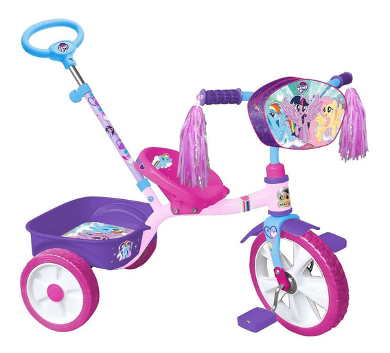 Triciclo Apache My Little Pony Rodada 12 Cajuela Baston