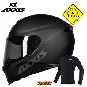 Capacete Mt Axxis Eagle Preto Fosco Mais Blusa X11 Original