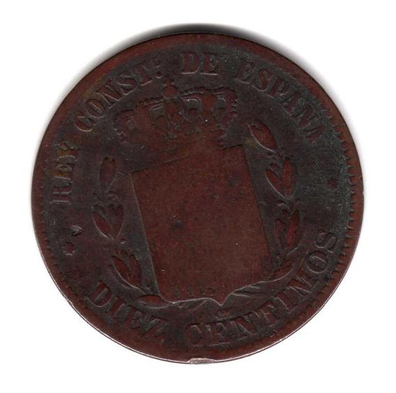 Moneda España 10 Centimos 1878 Km#675