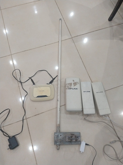 Accesos Point Tp-link X 3 + Router + Antena