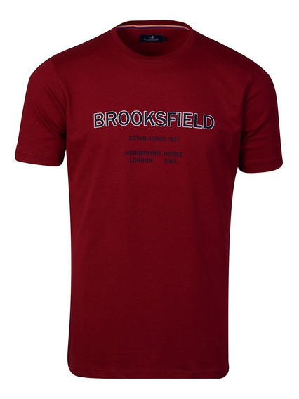 Remera Hombre Algodon Premium Estampada Moda Brooksfield D14