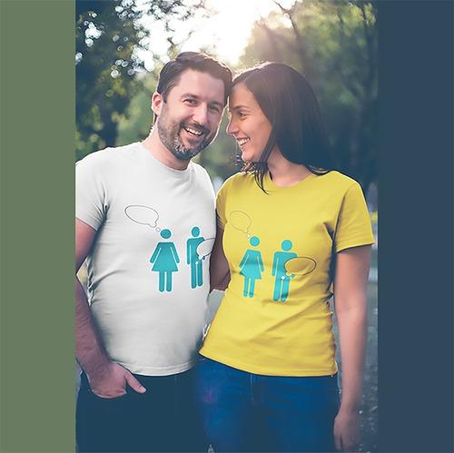 Imagem 1 de 2 de Camiseta Homem, Mulher