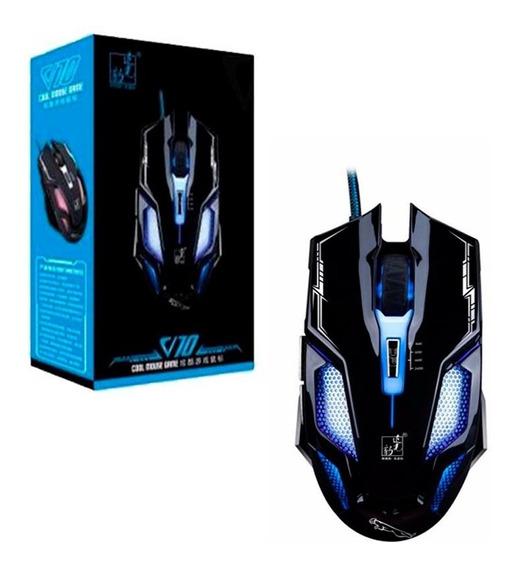 Mouse Com Fio Usb Com 7 Cor Luz 2400dpi Ajustavéis