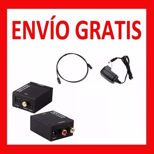 Convertidor Audio Digital Toslink Rca + Cable Óptico