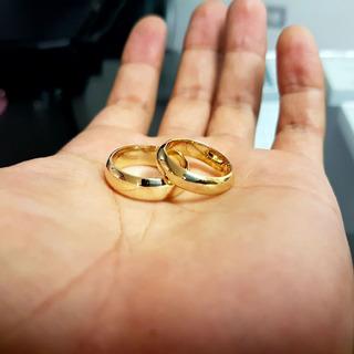 Par De Aros Matrimonio Boda Alianzas Oro 18k Amarillo