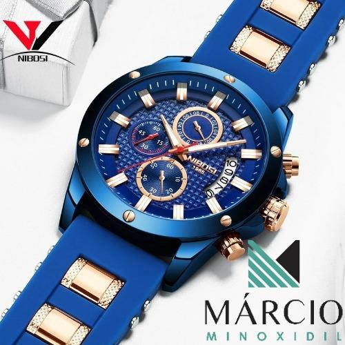 Relógio Masculino Nibosi 2333 Original Silicone Promoção