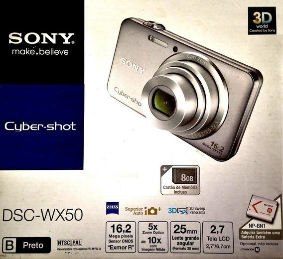 Câmera Digital Sony Cyber-shot Dsc-wx50 16.2 Mp - Prata