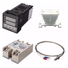 Controlador De Temperatura Digital Kit Completo Sensor K