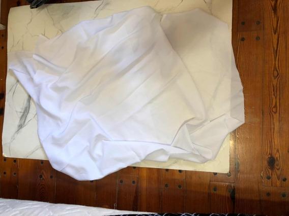 Retazo De Tela Blanca De Tipo Seda Fría (med) Para Bandera