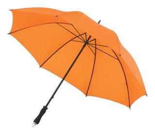 Paraguas Naranja Golf Gigante Reforzado Con Funda