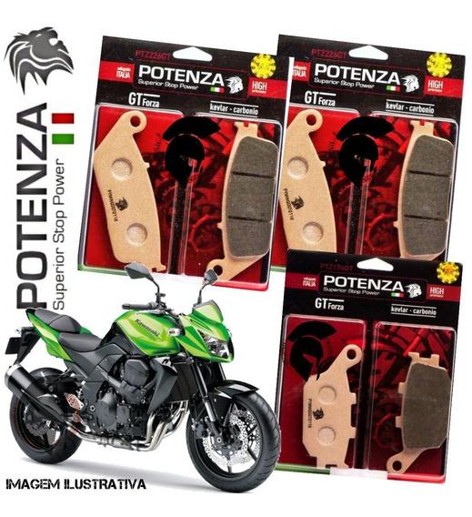 Kit Pastilha Freio Potenza Kawasaki Z750 07-12 C/abs 174 226
