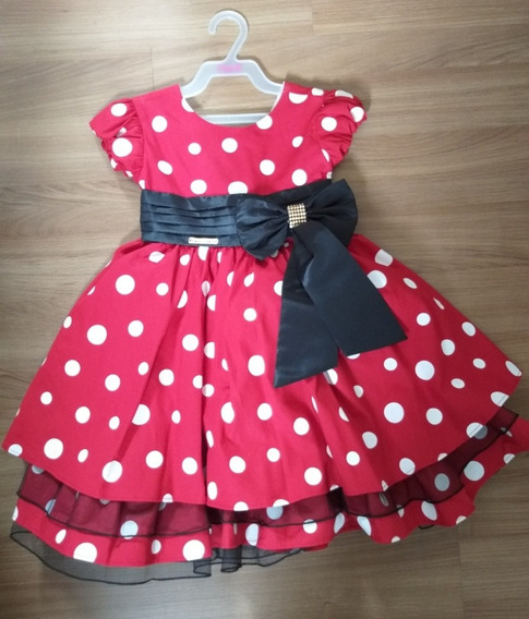 Vestido Festa Minie Vermelho