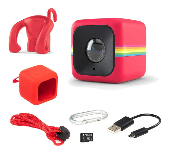Câmera De Ação Polaroid Cube Act Ii - Vermelha - C/ Brindes