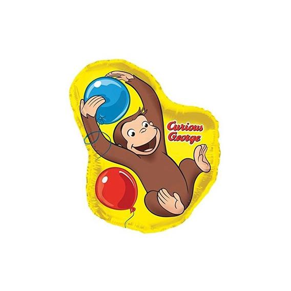 35 Globo Con Forma De Hoja Gigante Curious George Balloon