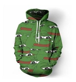 Moletom Capuz Pepe The Frog Meme Sad Boys Lil Peep Trap Goth