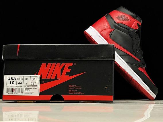 Zapatillas Nike Air Jordan 1 Bg Bred Toe