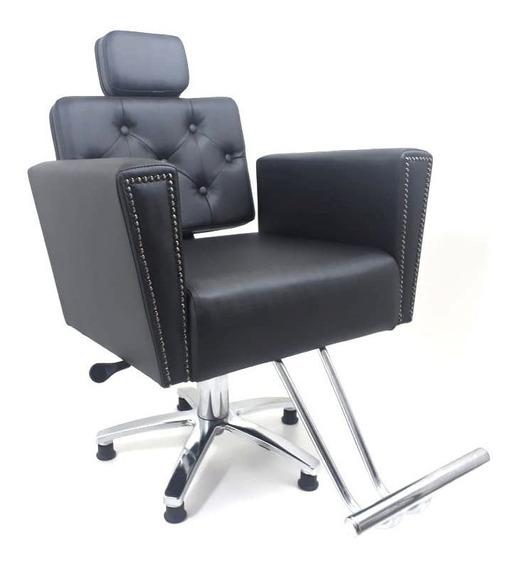 Poltrona Cadeira Para Cabeleireiro Sofia Reclinavel Beleza