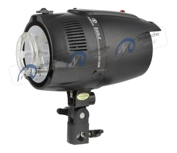 Flash De Estúdio Greika 250w 220v, Gn52, Tocha Eg-250b Eagle