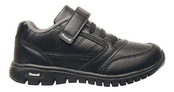 Zapatillas Elásticos Abrojos Marcel Niña Niño Burdeos Negra