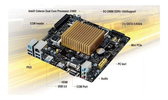 Placa Mãe Asus J1800i-c/br Mini Itx Hdmi / Dual Core 2.41ghz