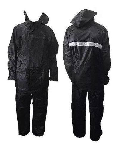 Capa De Chuva 100% Impermeável M + Mochila 28l + Luva De Lã
