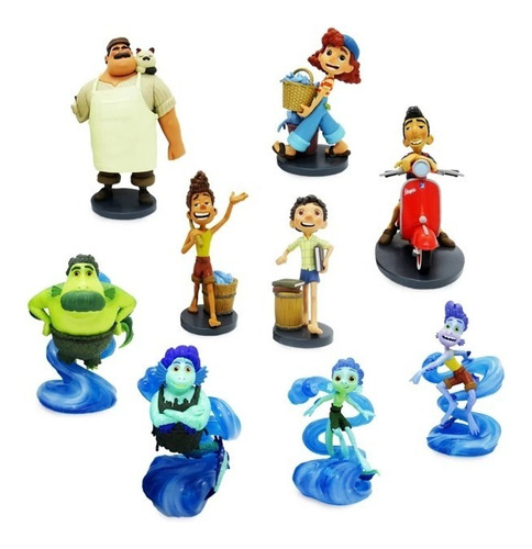 Imagem 1 de 4 de Luca Pixar Filme Bonecos Deluxe Playset Disney Store Miniat