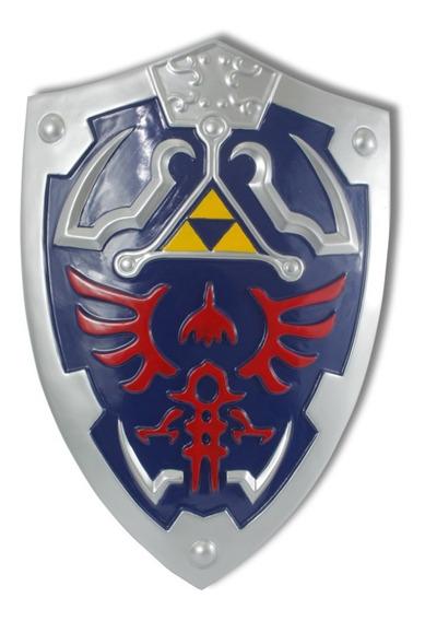 Escudo Zelda Link Hylian Legend Of Zelda Master Cosplay Azul