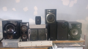 Caixas Acústicas Para Home Theater Receiver Som Amplificador