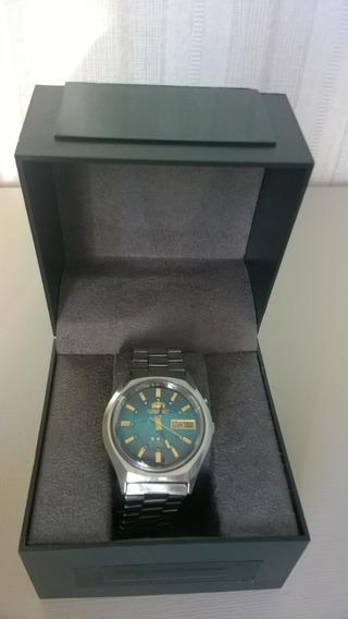 Lindo Relógio Orient Raro Azul Real Automático Anos 70