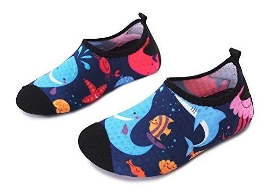 Zapatos Playa Alberca Baño Niño Para Nadar Ballena Tiburon