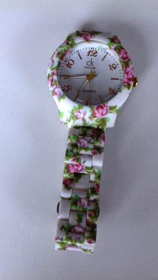 Relógio Florido Feminino Primavera Verão 2018