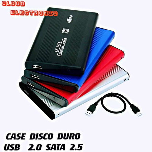 Case De Disco Duro Externo 2.5 Usb 2.0 Sata Tienda Fisica