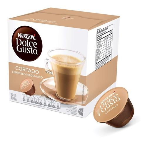 Cápsulas De Café Cortado Nescafé Dolce Gusto X16 - Combox
