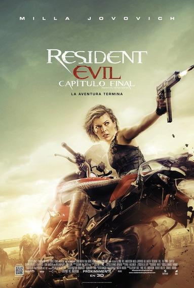 Poster Original Cine Resident Evil: Capítulo Final