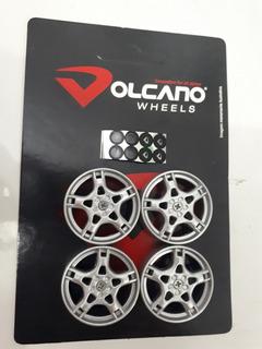 Kit C/ 6 Jogos 1/18 Mini Roda Para Miniatura/diecast 1:18