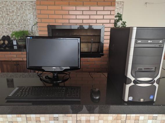 Computador 2gb De Ram, Acompanha Monitor, Teclado E Mause.