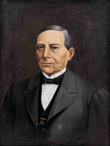 Lienzo Tela Canvas Retrato Benito Juárez García 1860 70 X 50