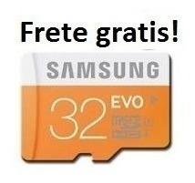 Cartão Memória Micro Sd 32gb Samsung Classe 10 Frete Grati