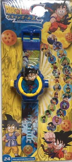 Relógio Dragon Ball Infantil Projeta 24 Imagens