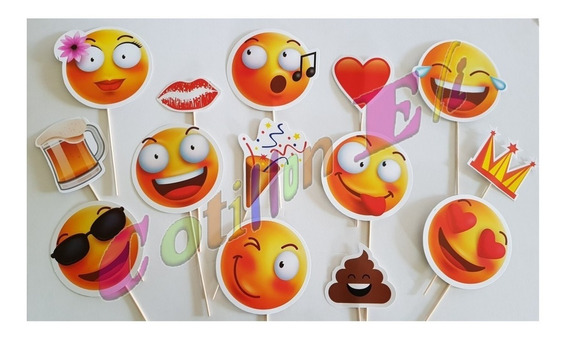 Photo Booth Props Emoji Casamiento 15 Años X 28 Un