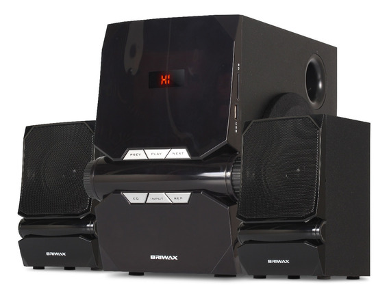 Caixa Som Subwoofer 2.1 Bluetooth 50w Home Theater Estéreo